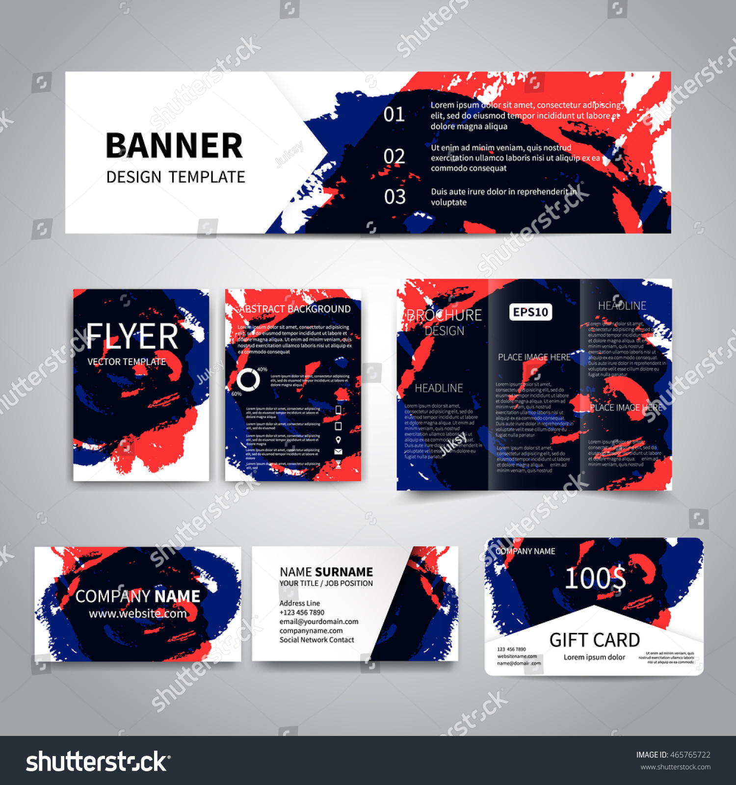 Banner Flyers Brochure Business Cards Gift Stock Photo (Photo ...
