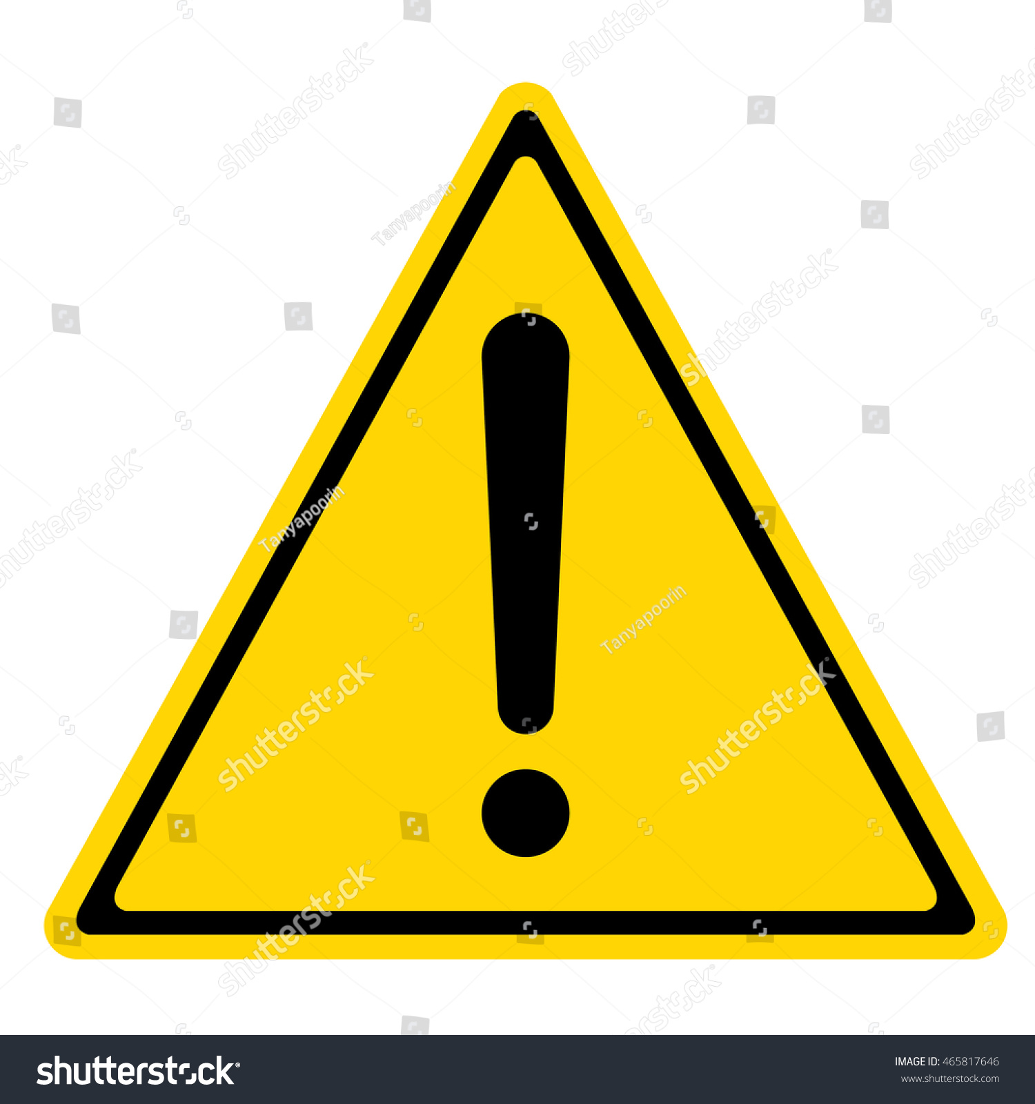 Hazard Warning Sign Triangle Symbol Isolated Stock Vector Royalty