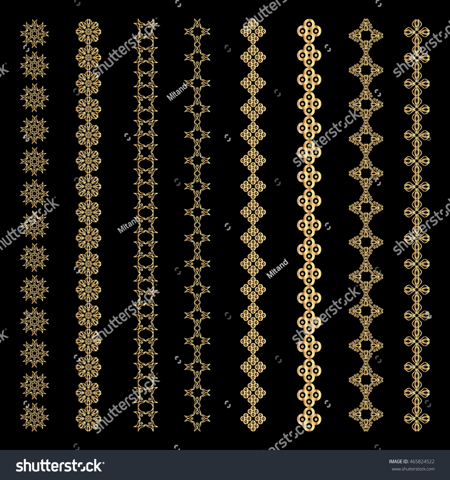 set abstract ornamental vintage borders design stock vector royalty