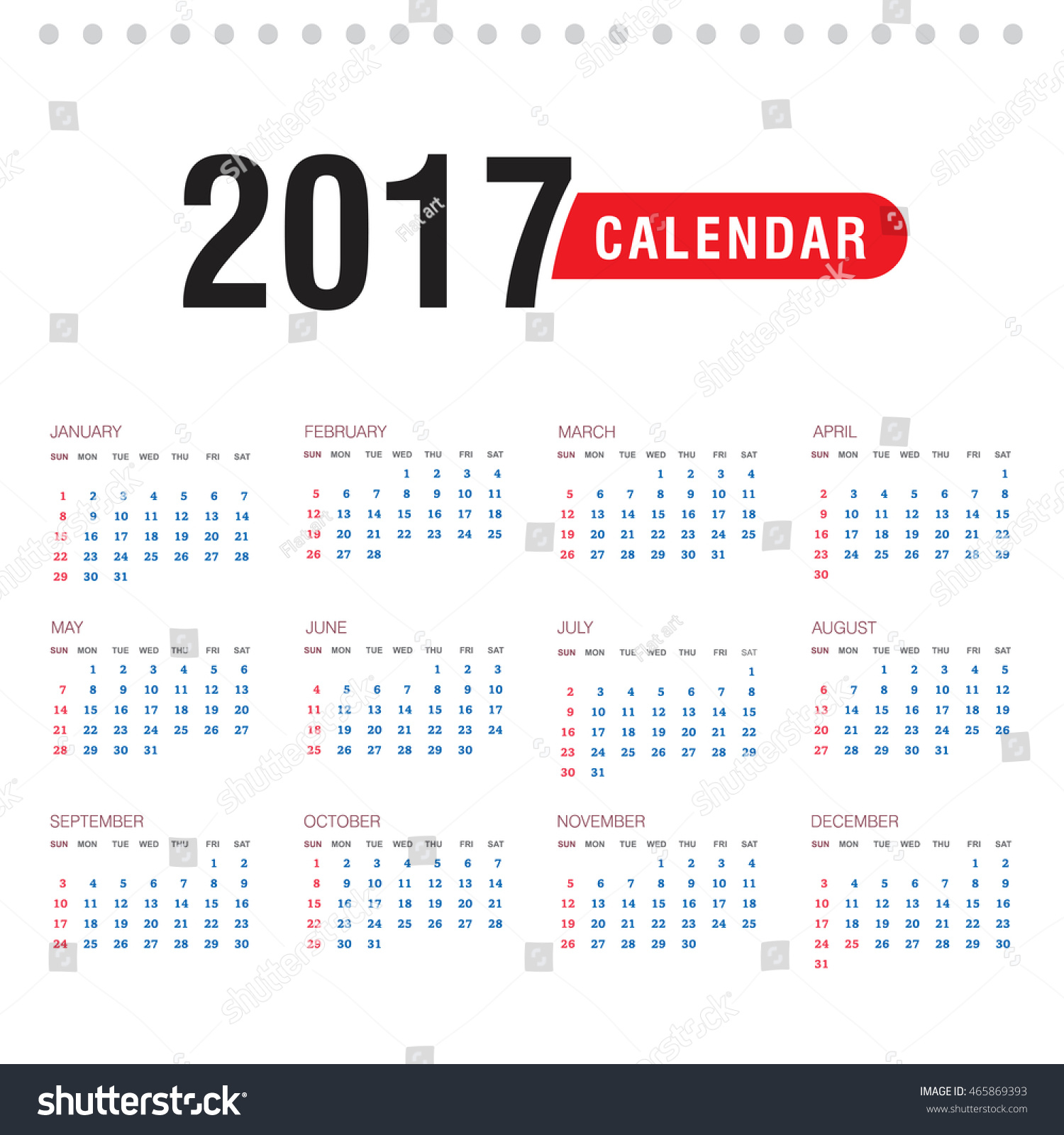 Calendar Flat Illustration : Calendar flat design vector