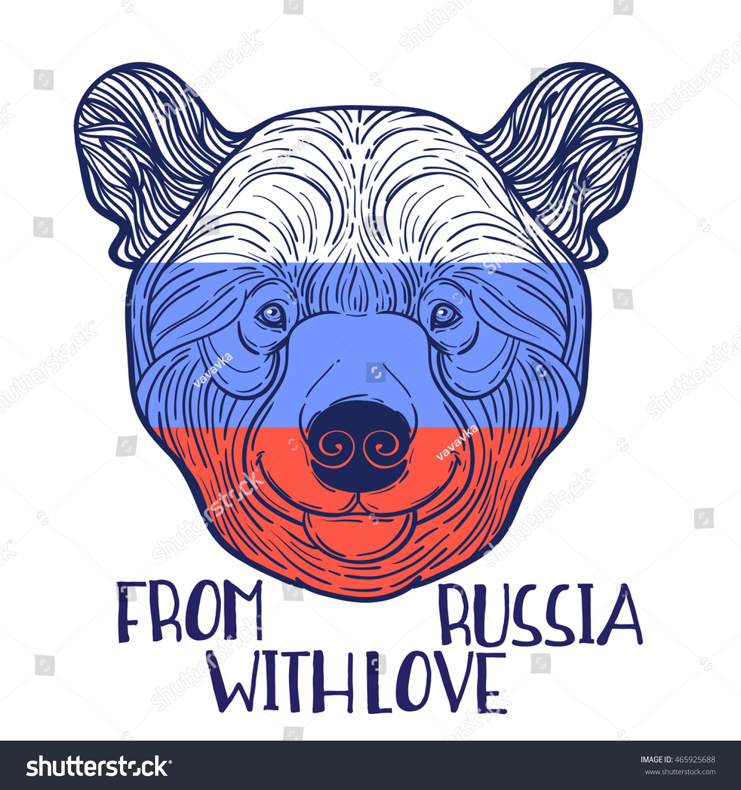 Animal Teddy Bear Head Print Adult Stock Vector (2018) 465925688 ...