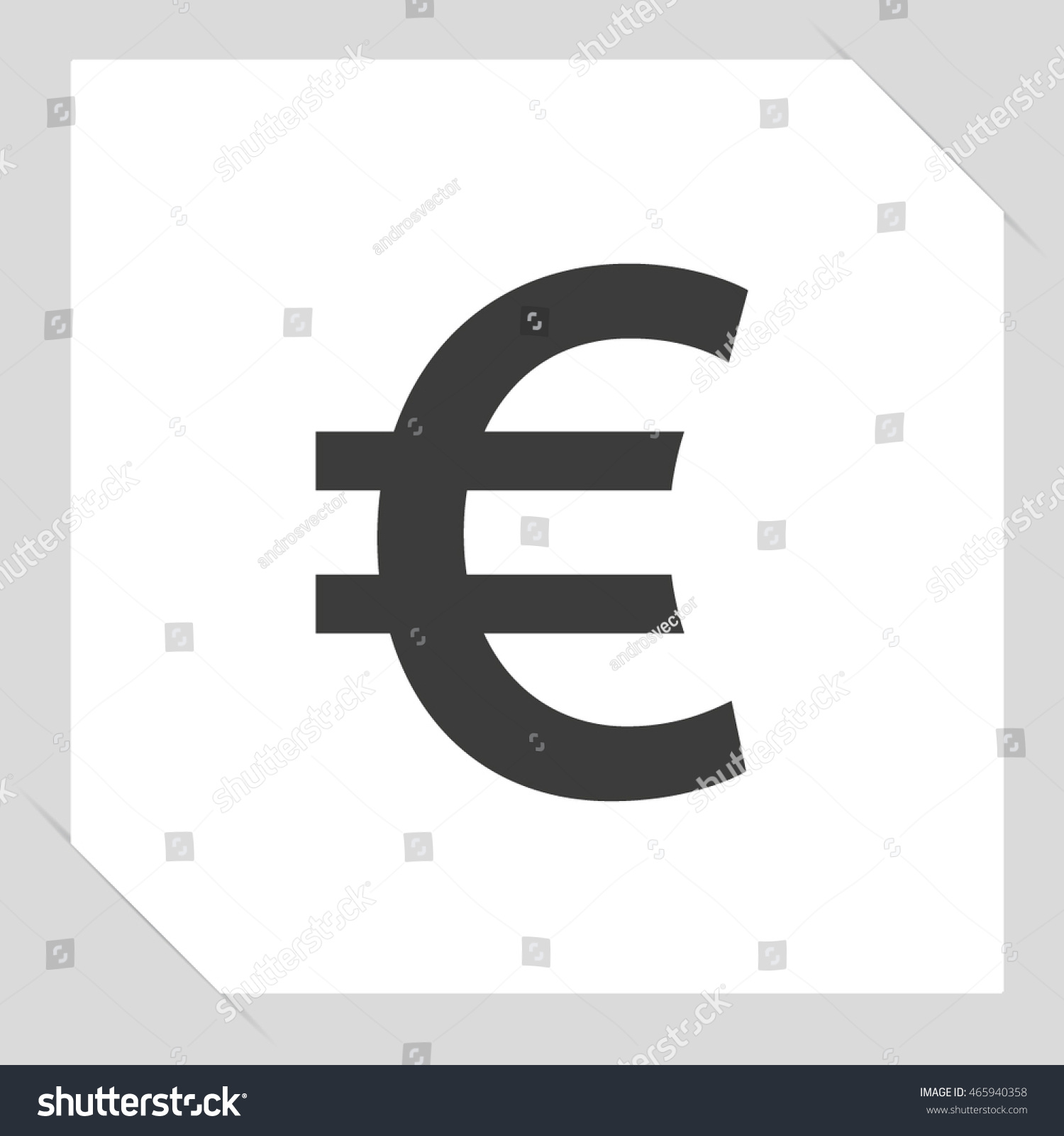 Euro Sign Icon Euro Currency Symbol Stock Vector Royalty Free