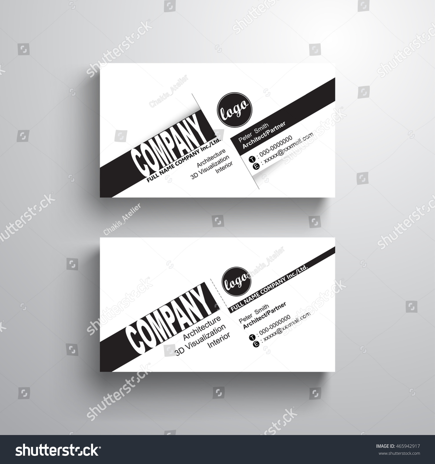 Black white design typography name card stock vector 465942917 black white design typography name card template business card minimalist style vector magicingreecefo Gallery