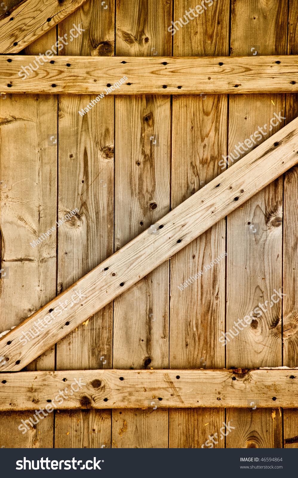 Rustic Wooden Barn Door Stock Photo 46594864 - Shutterstock