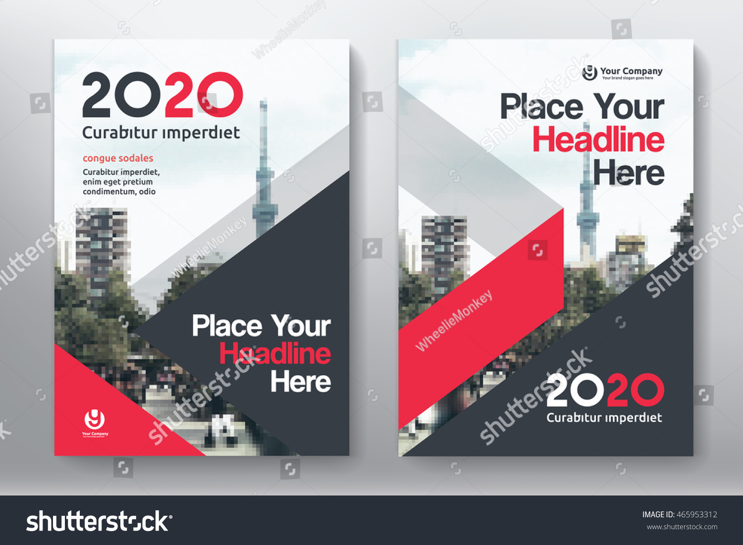 Business Book Cover Test ~ Red color scheme city background business stock vector