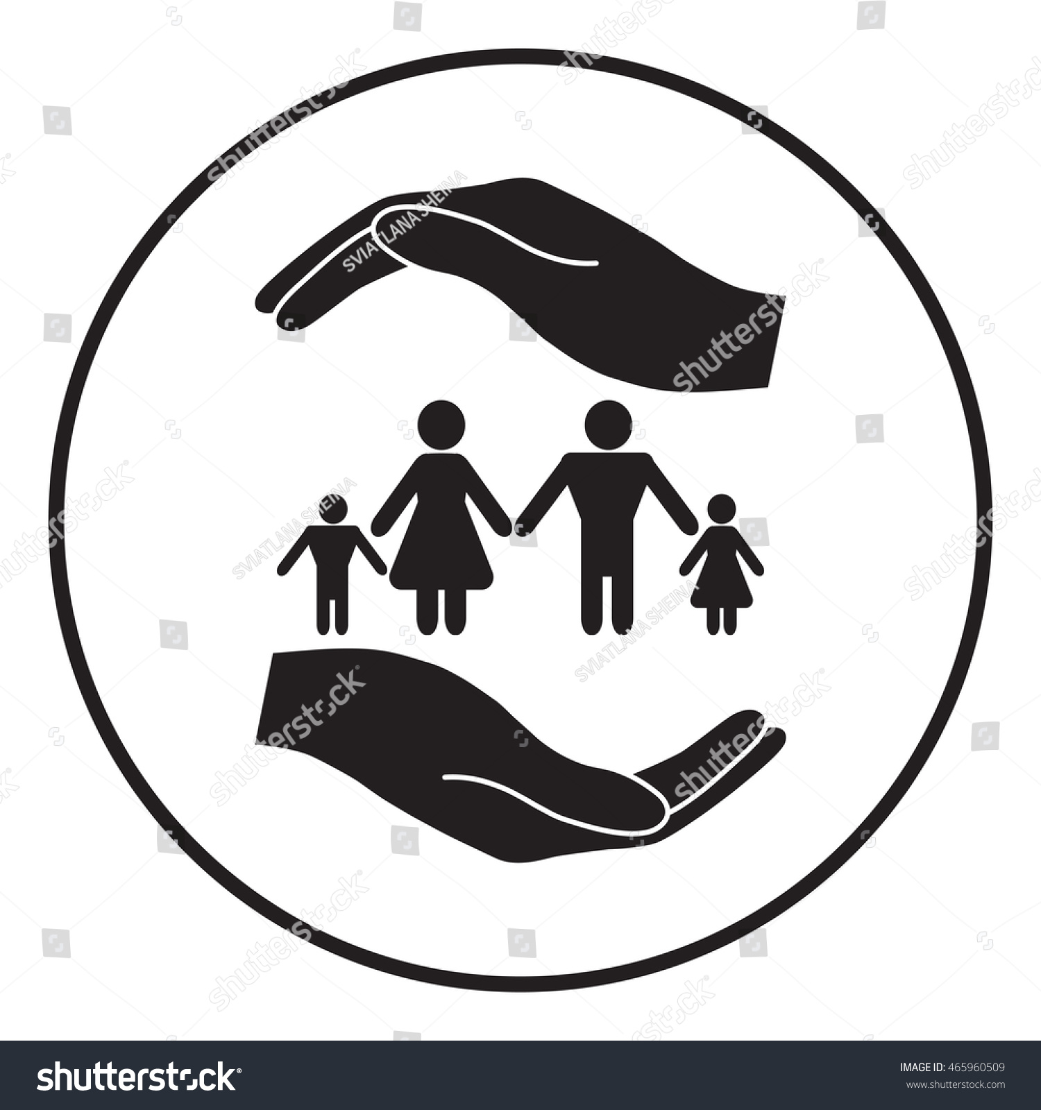 Hands holding symbol family family protect stock vector 465960509 hands holding a symbol of family family protect symbol buycottarizona Image collections