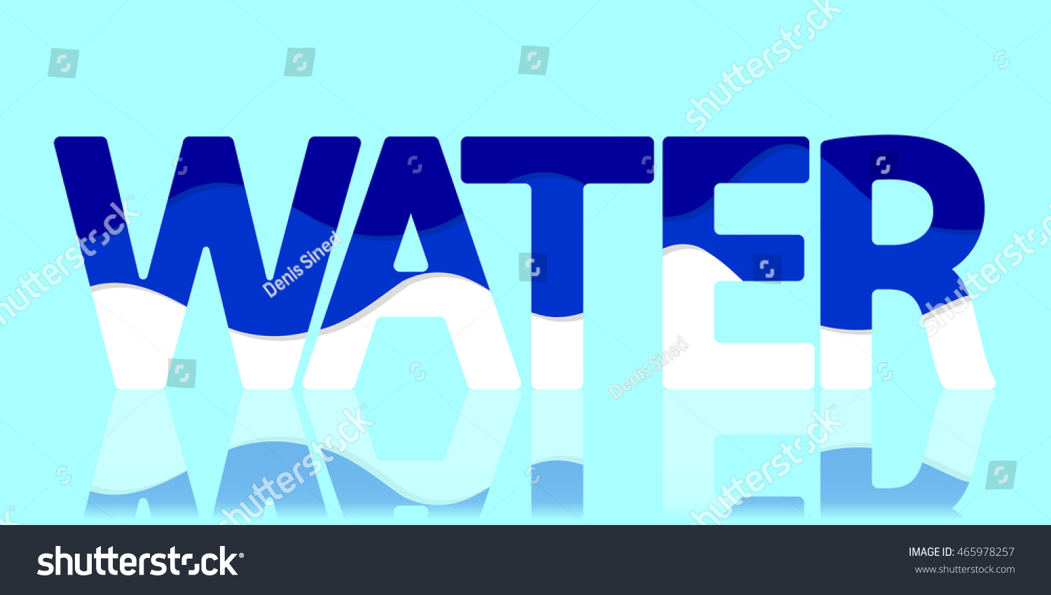 water abstract banner letter design template vector illustration