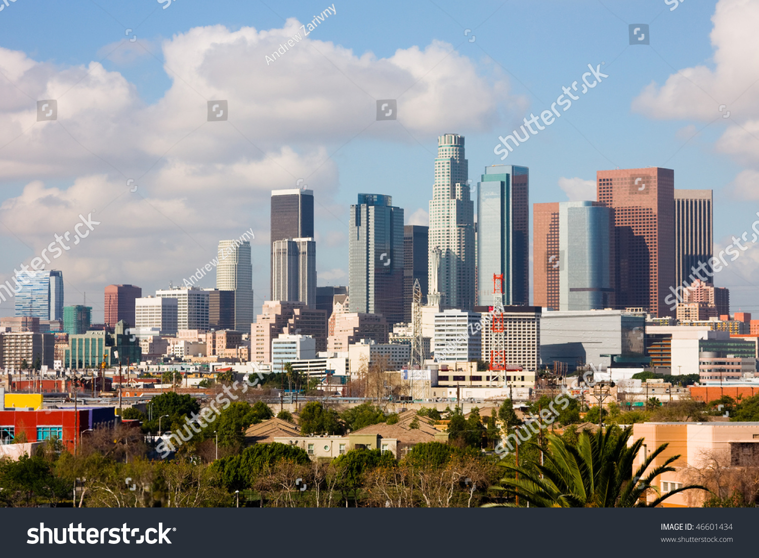Los Angeles Downtown Stock Photo 46601434 Shutterstock