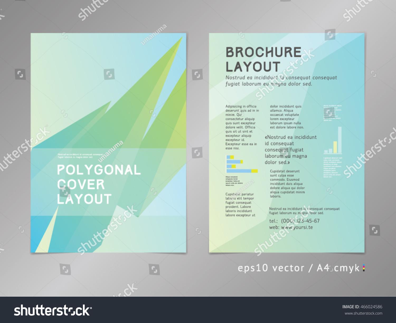 Green Ecofriendly Style Brochure Cover Layout Stock-Vektorgrafik ...