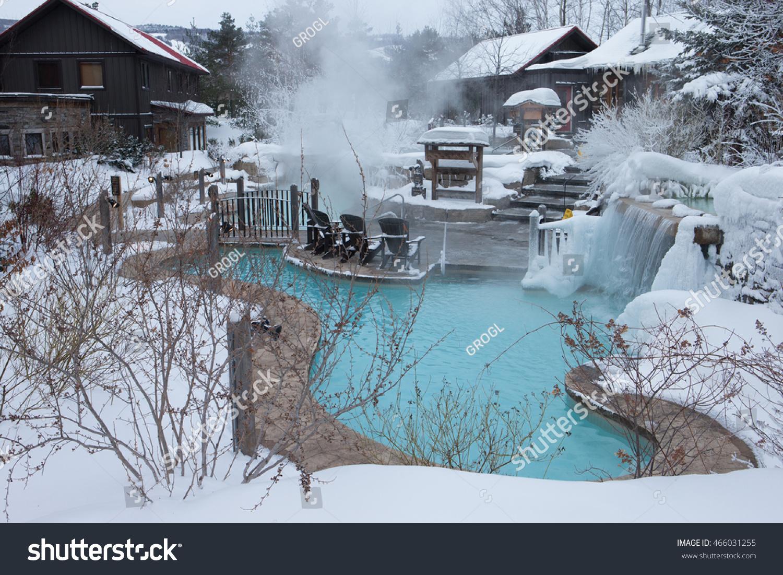 Outdoor Spa Covered Snow Ontario Canada Stock Photo (100% Legal ...