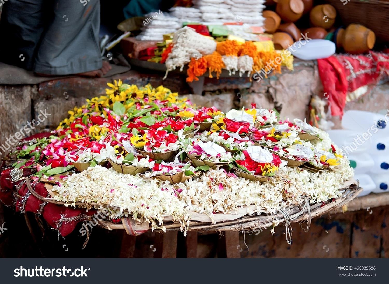 Puja Flowers Aarti Ritual Puja Flowers Stock Photo Edit Now