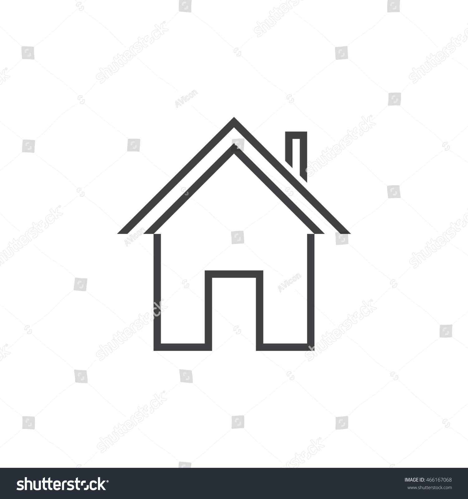 House outline picture - Home Line Icon House Outline Vector Logo Illustration Linear Pictogram Isolated On White
