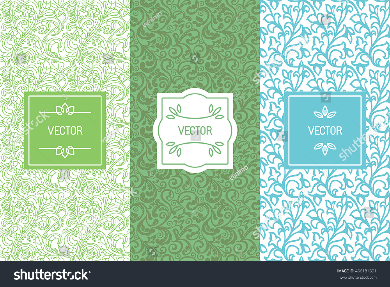 Vector Set Design Elements Seamless Patterns Stock Vector (2018 ...