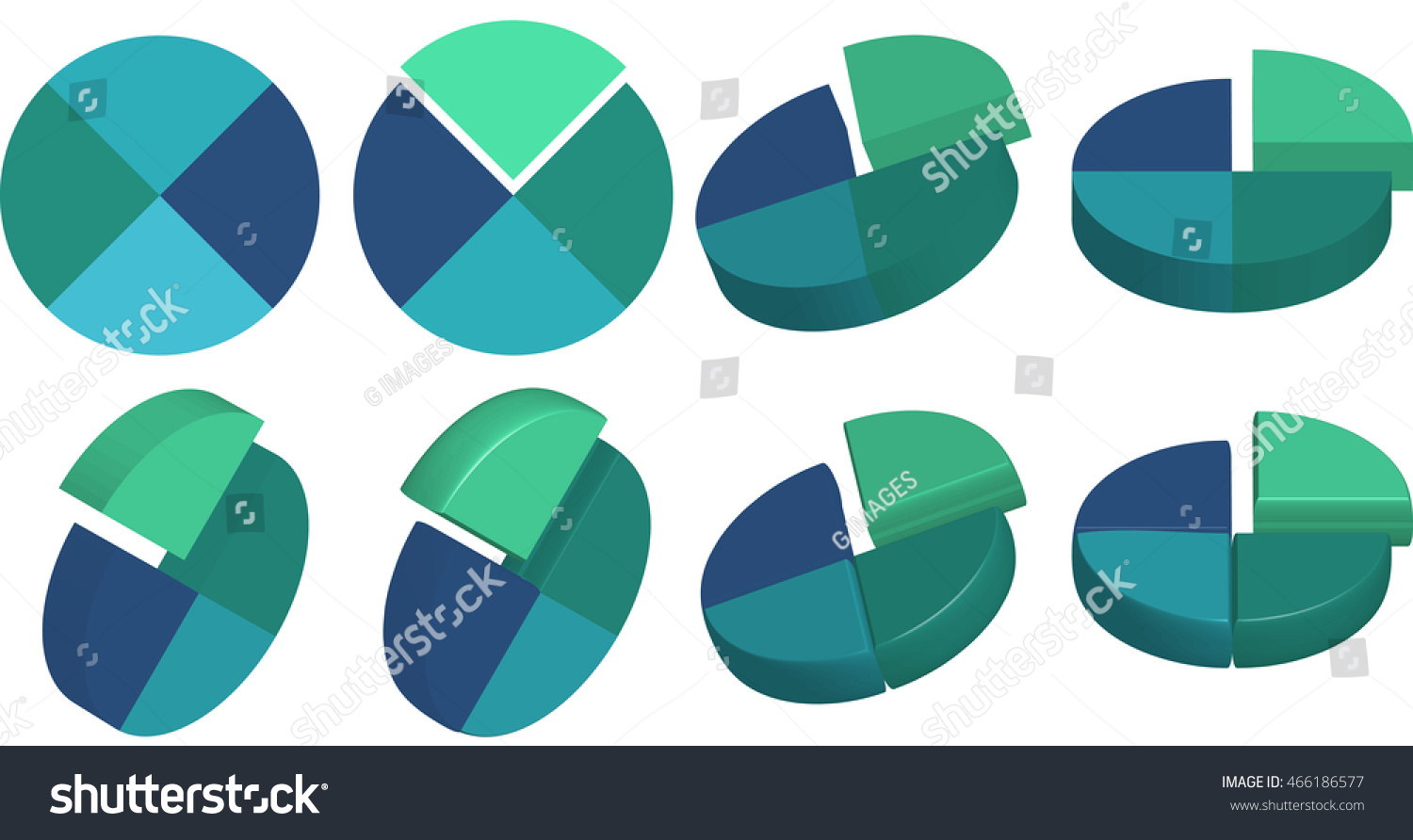 2d 3d pie chart elements presentations stock illustration 2d and 3d pie chart elements for presentations blue and teal color palette infographic nvjuhfo Image collections