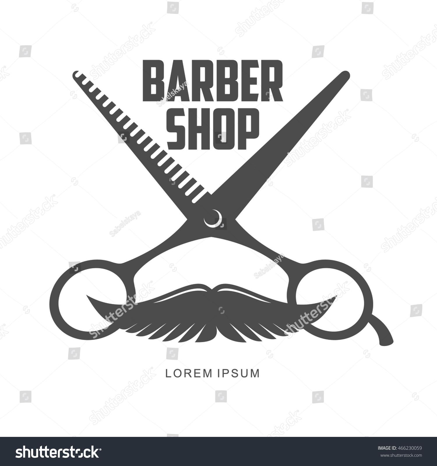 Clip art vector of vintage barber shop logo graphics and icon vector - Vintage Barber Shop Logo Label Badge And Design Element Vector Illustration Isolated On