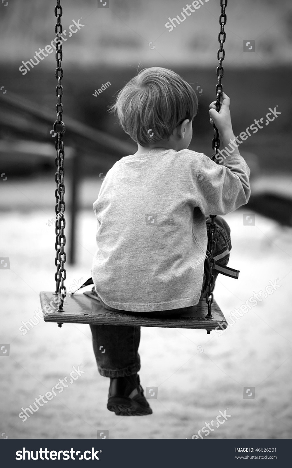 Lonely Boy Images Black And White Photography