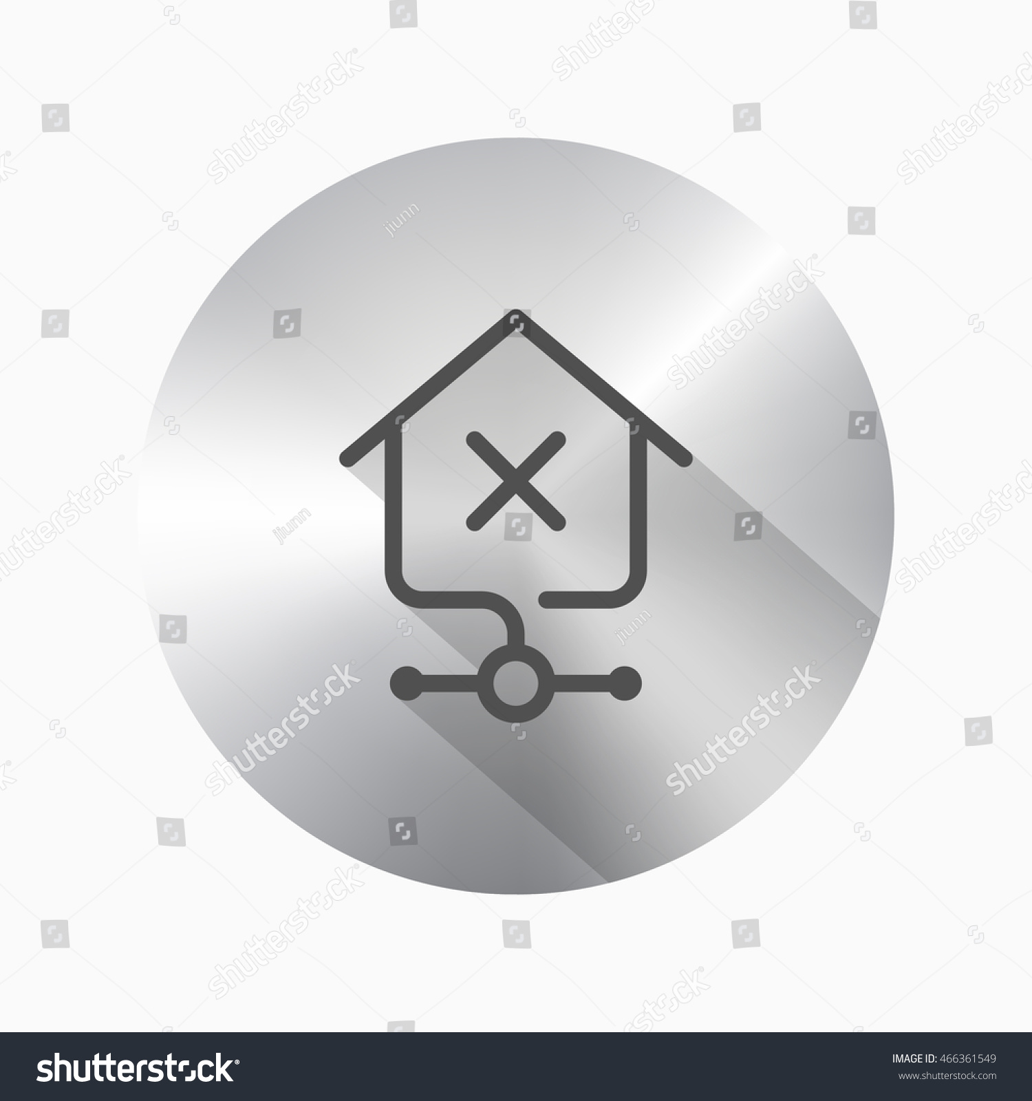 Line Home Network Error Icon Vector Stock Vector (2018) 466361549 ...