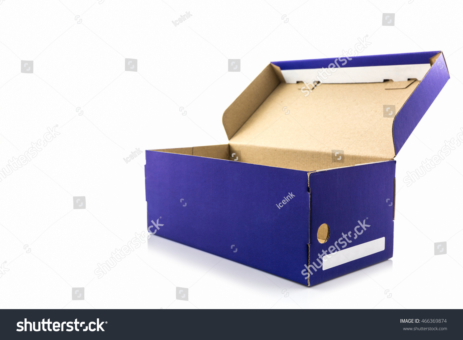 blue shoe box clipping path on stock photo royalty free 466369874