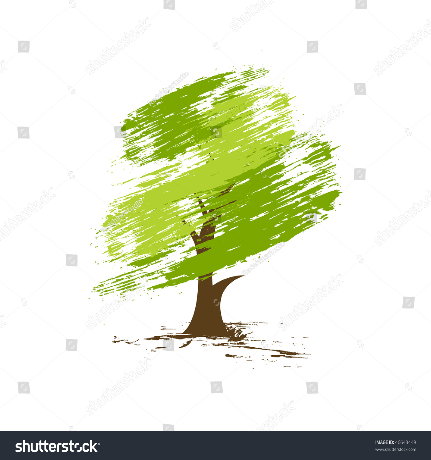 This is a photo of Geeky Tree Background Drawing