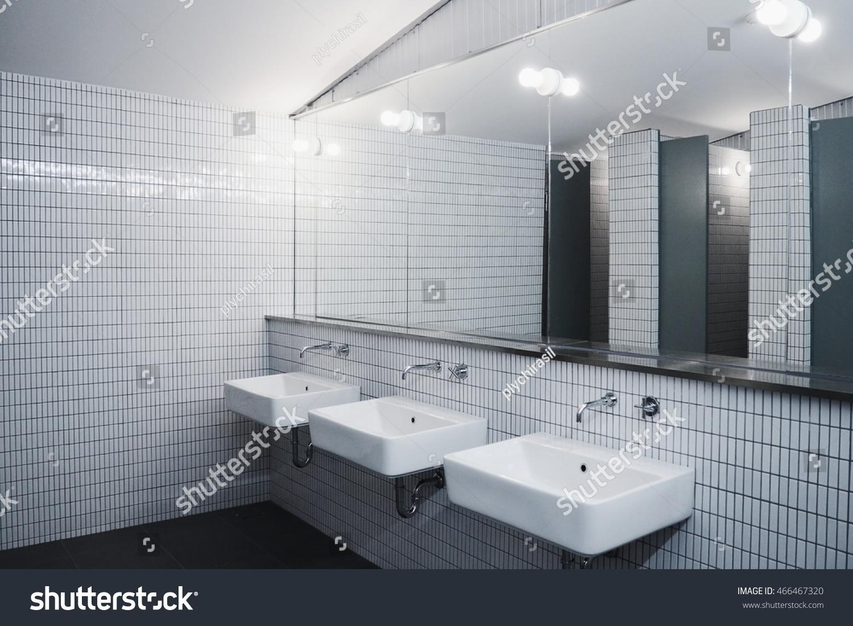 Bathroom Minimalist Style Commercial Bathroom Stock Photo (100 ...