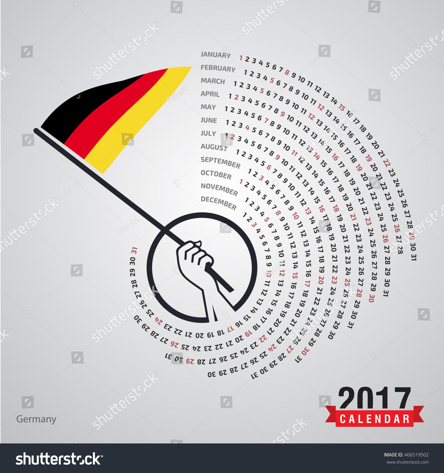 Year Calendar Germany : Calendar germany country waving flag stock vector