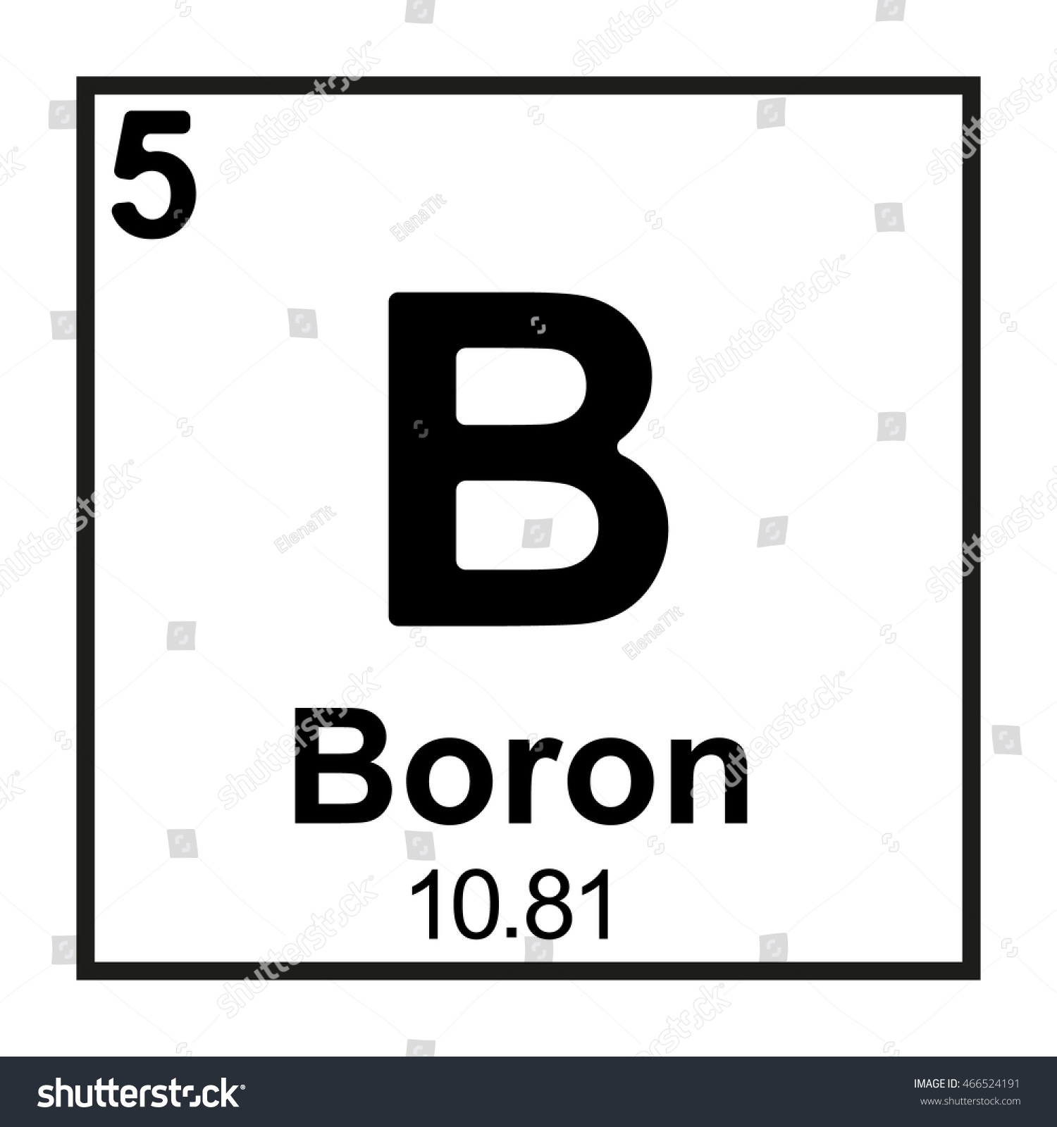 Periodic table element boron stock vector 466524191 shutterstock the periodic table element boron gamestrikefo Image collections