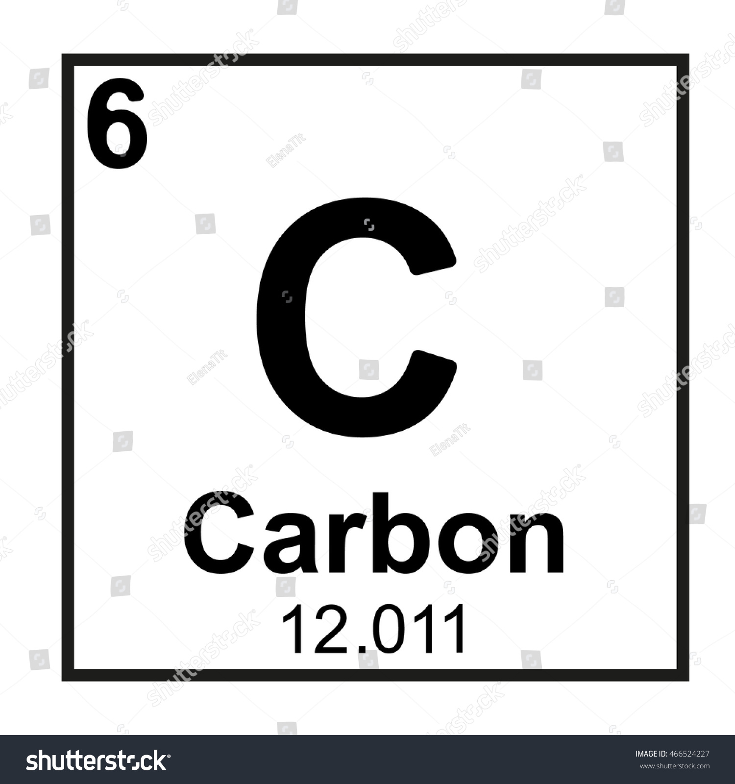periodic table element carbon stock vector 466524227