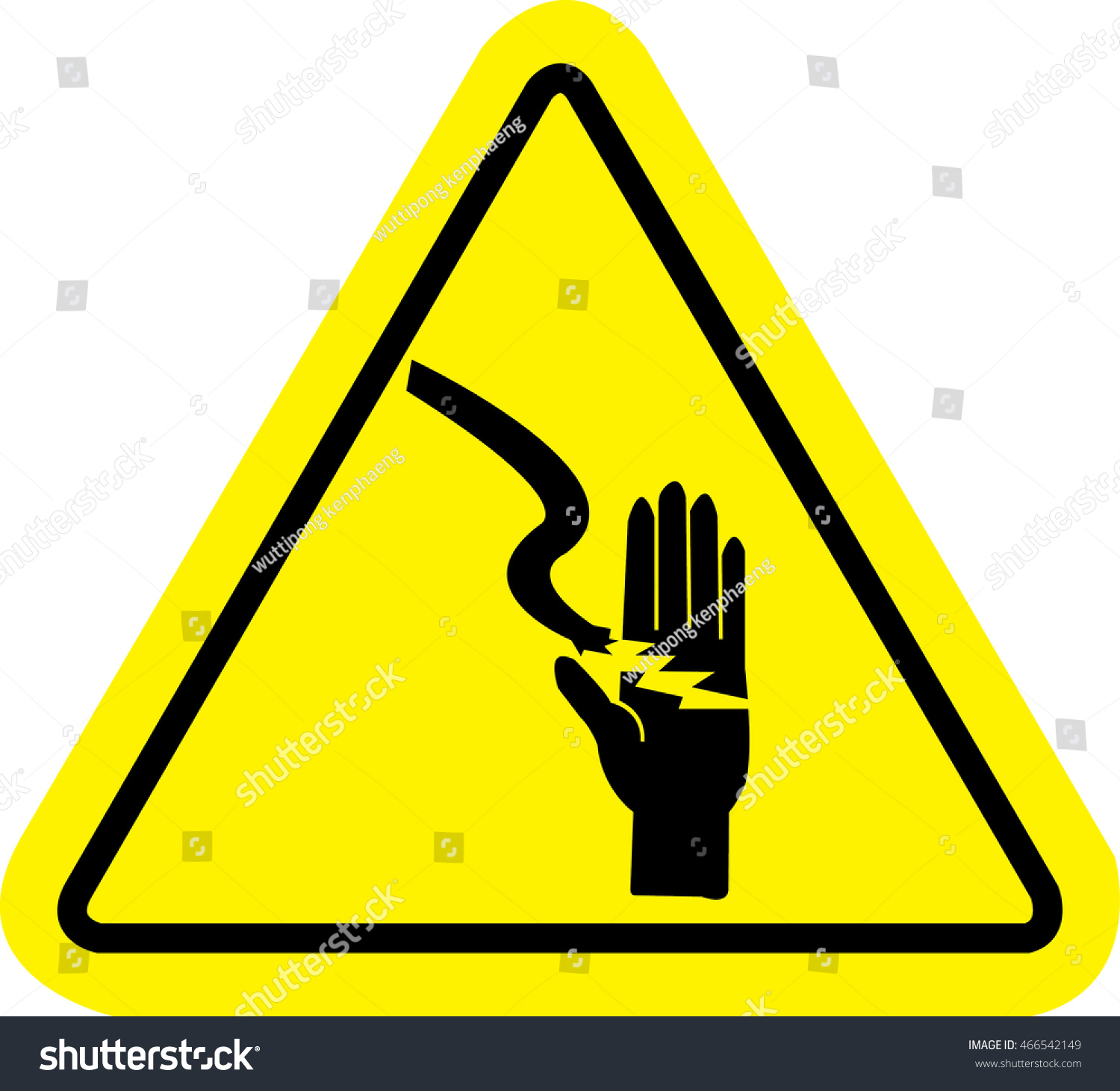 High voltage sign danger symbol isolated stock vector 466542149 high voltage sign danger symbol isolated in yellow triangle buycottarizona