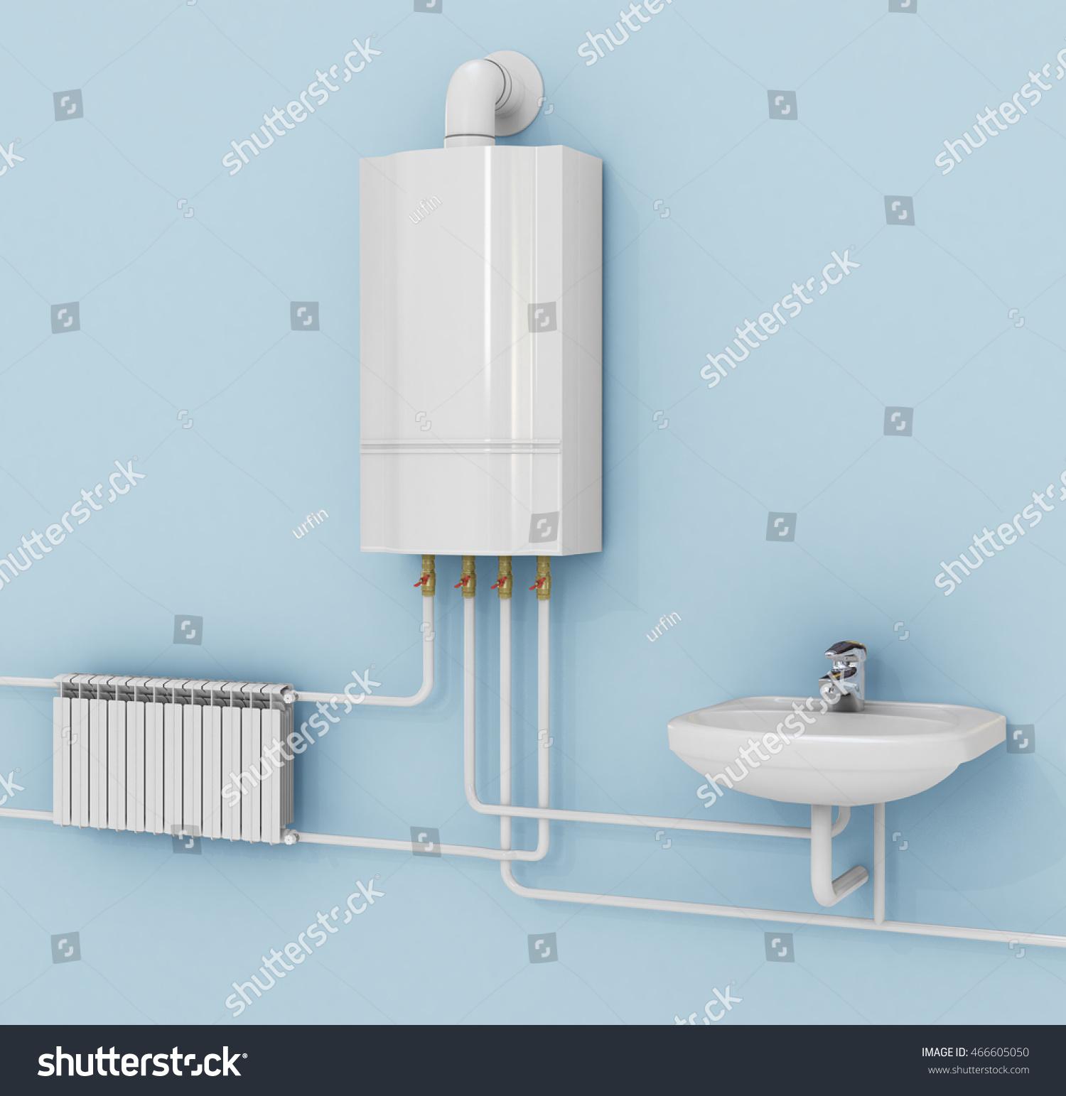 Energysaving Heating System Thermostats Smart House Stock ...