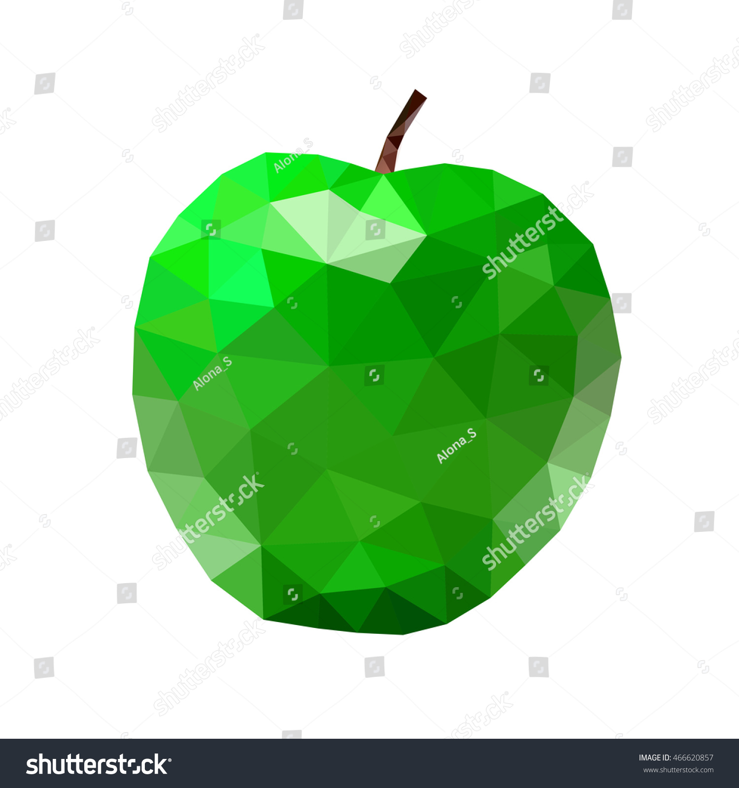 Low poly apple icon green bright stock vector 466620857 shutterstock low poly apple icon green bright closeup sign isolated on white background symbol nature buycottarizona