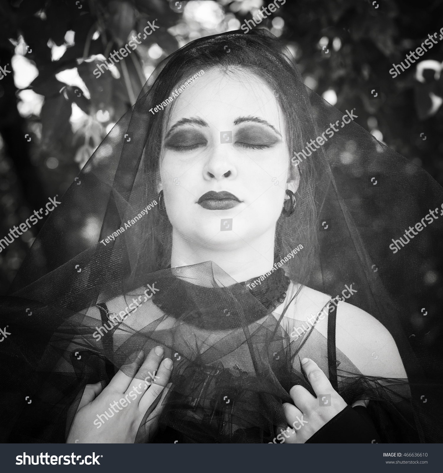 Witch On Coven Halloween Gothic Bride Stock Photo (Edit Now) 466636610