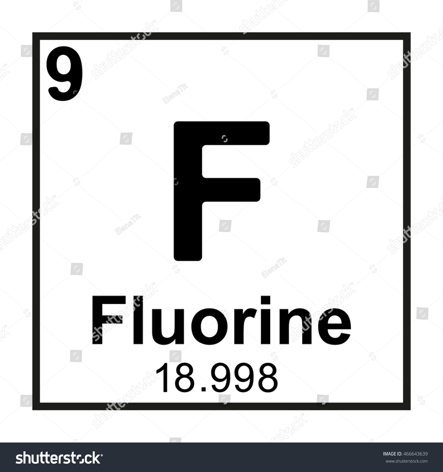 Periodic table element fluorine stock vector 466643639 shutterstock periodic table element fluorine gamestrikefo Image collections