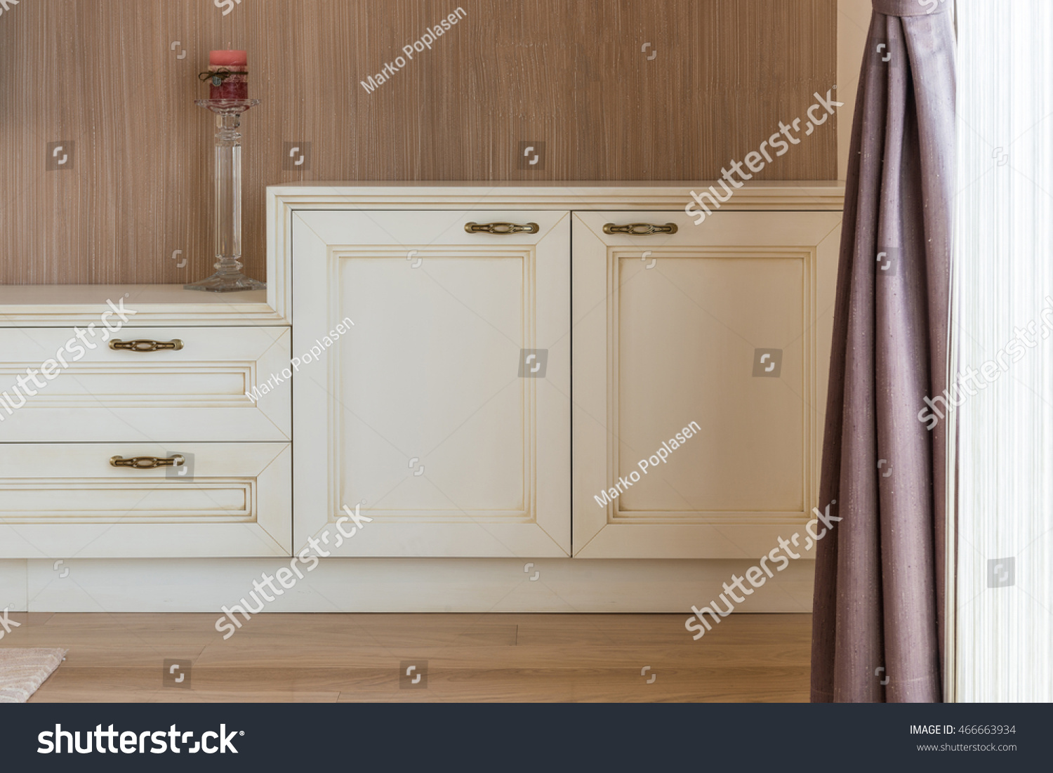 White Wooden Commode Tv Unit Near Stock Photo 466663934 Shutterstock # Commode Tv But