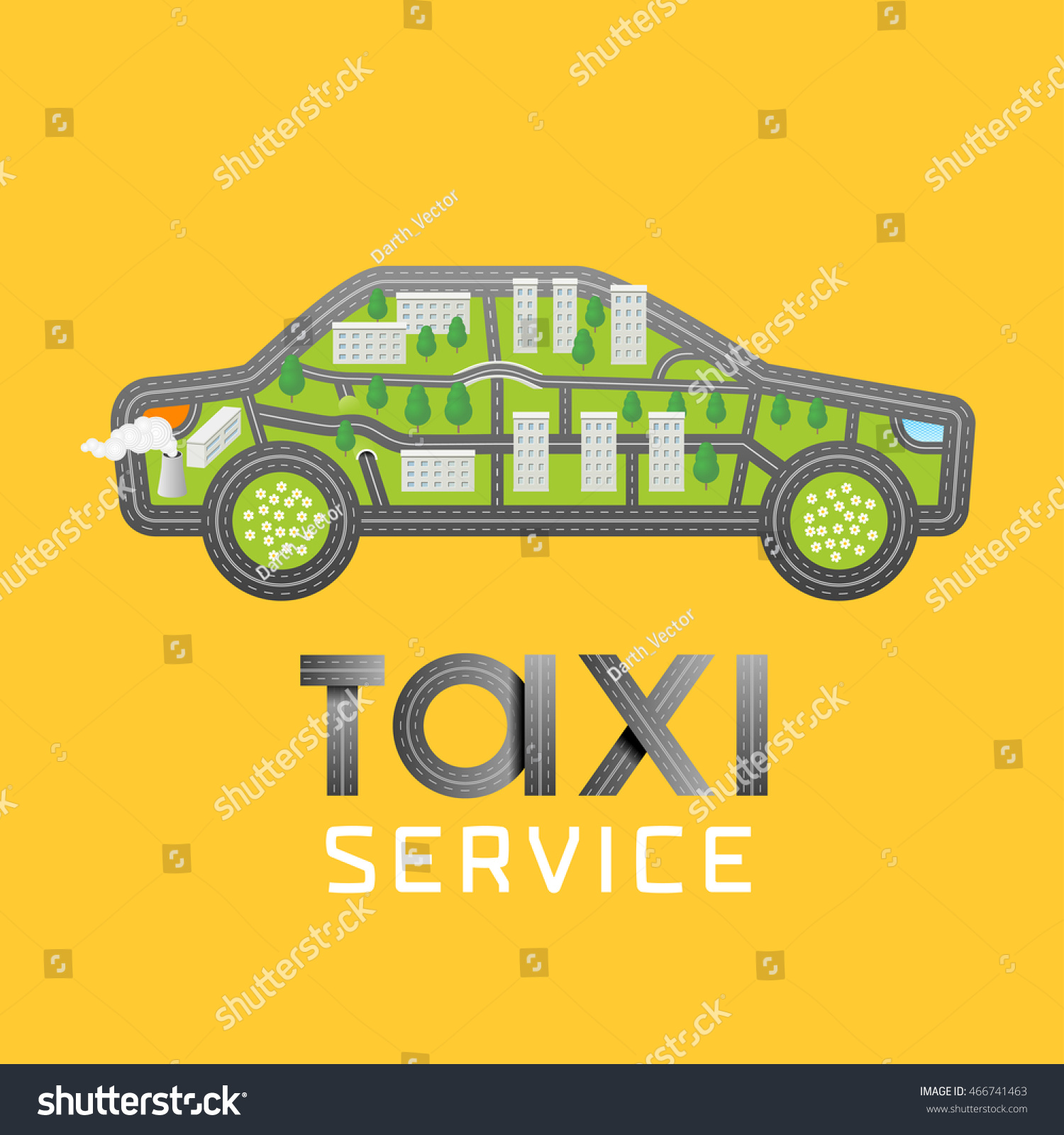 Taxi Cab Vector Logo Icon Car Stock Vector 466741463 Shutterstock
