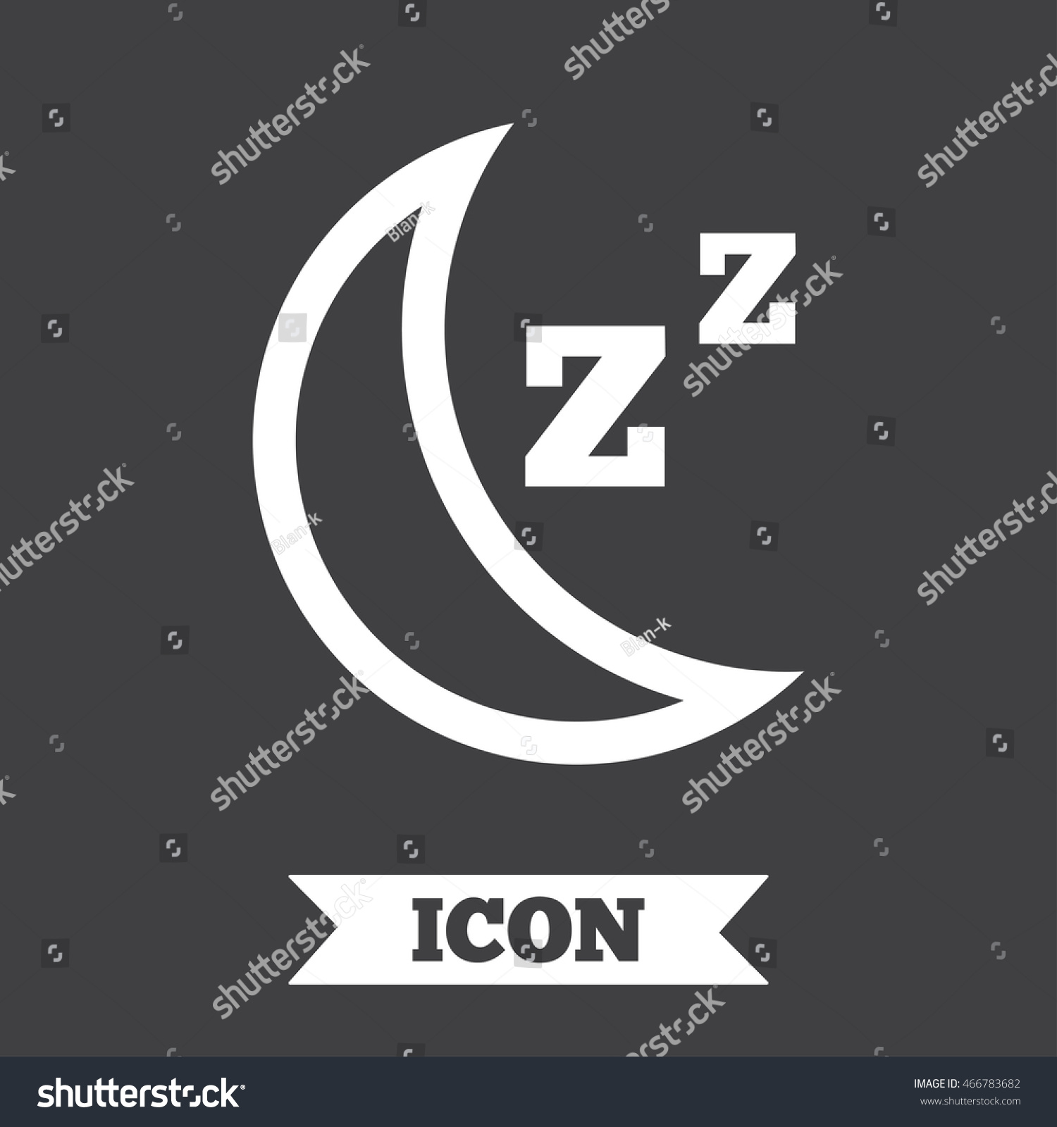 Sleep sign icon moon zzz button stock illustration 466783682 moon with zzz button standby graphic design element flat biocorpaavc