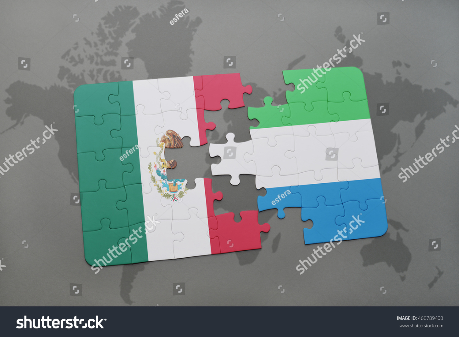 Royalty Free Stock Illustration of Puzzle National Flag Mexico
