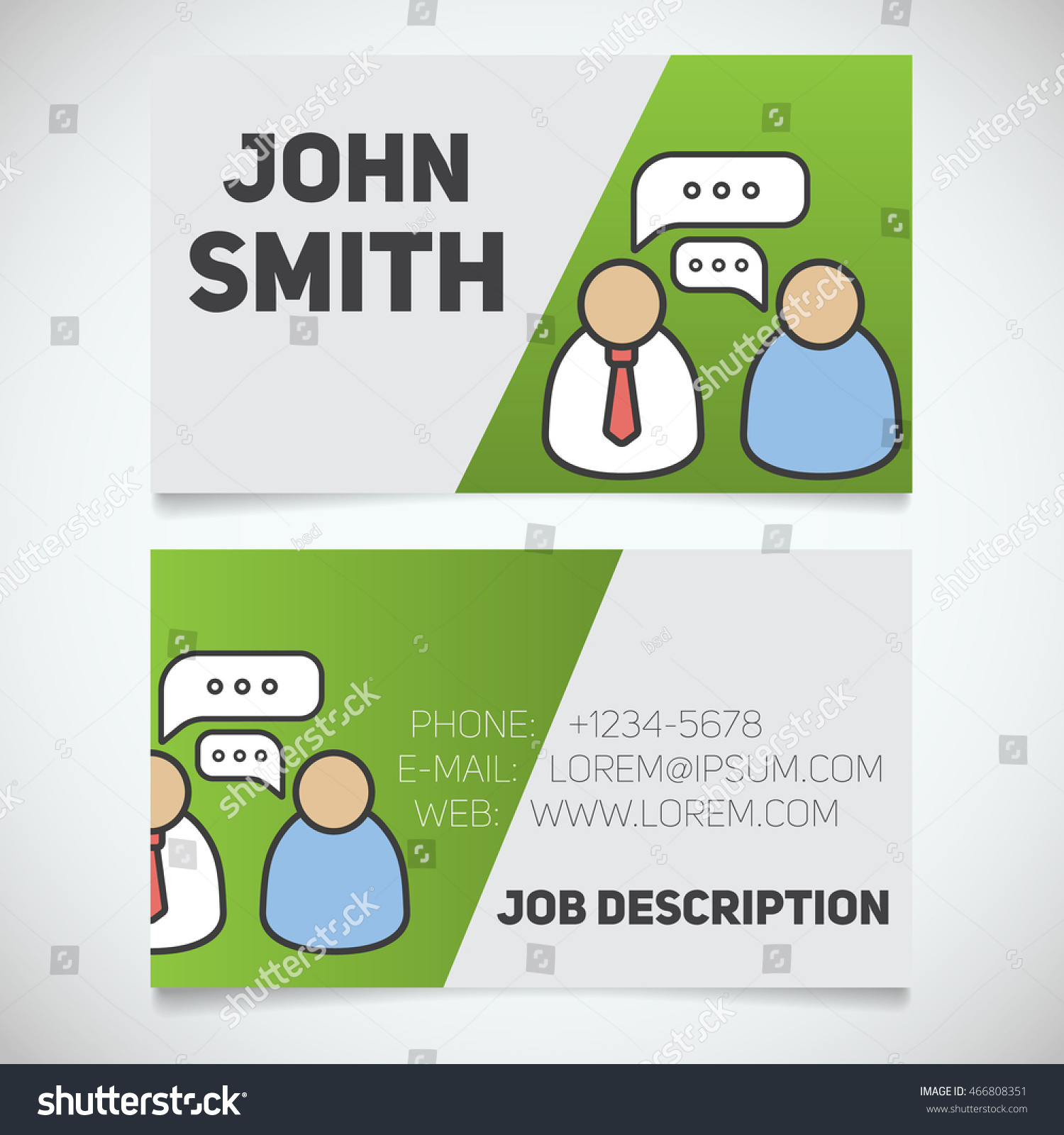 Business card print template interview logo stock vector 466808351 business card print template with interview logo easy edit manager journalist employer colourmoves