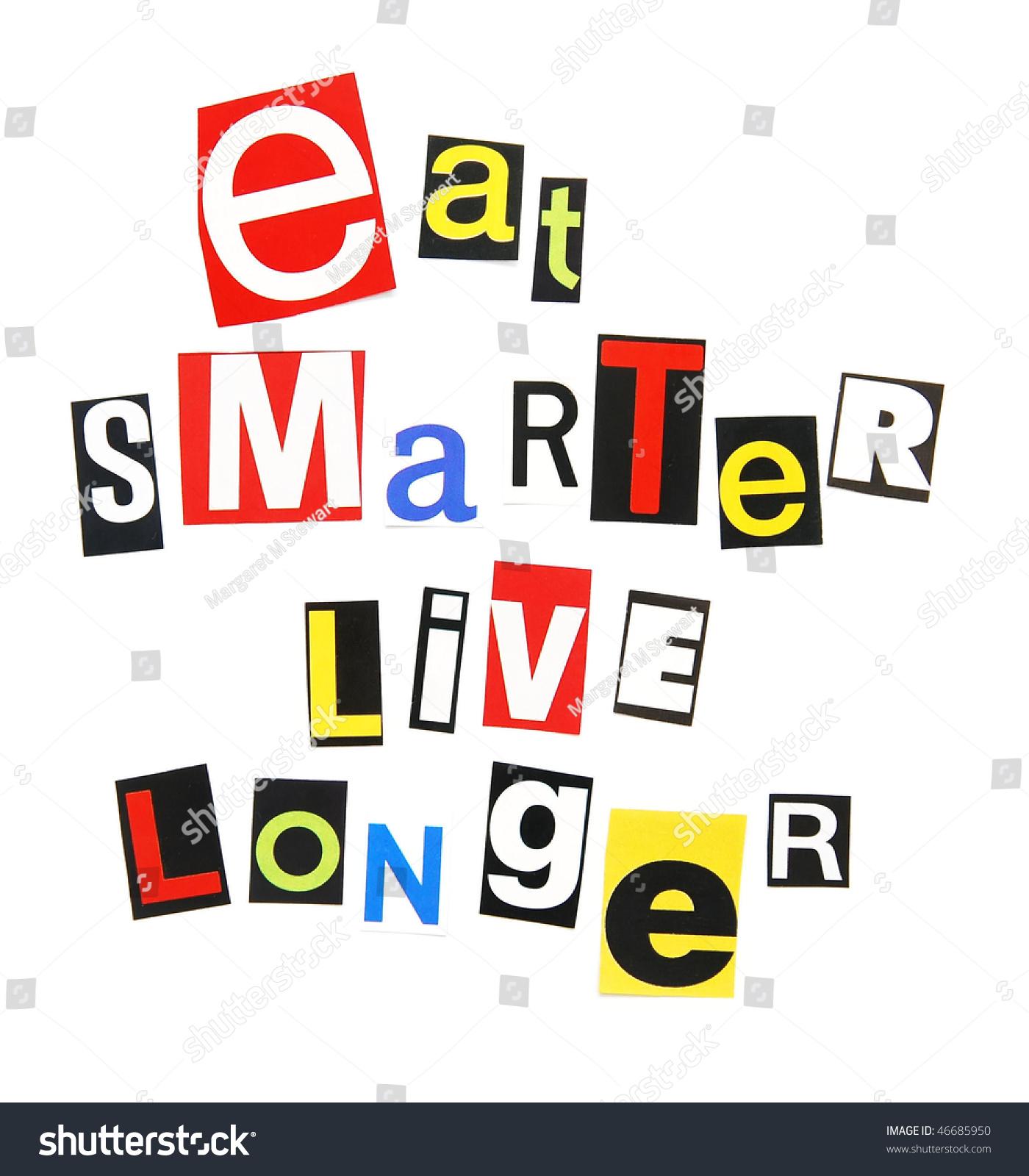 eat smarter live longer stock photo 46685950 shutterstock. Black Bedroom Furniture Sets. Home Design Ideas