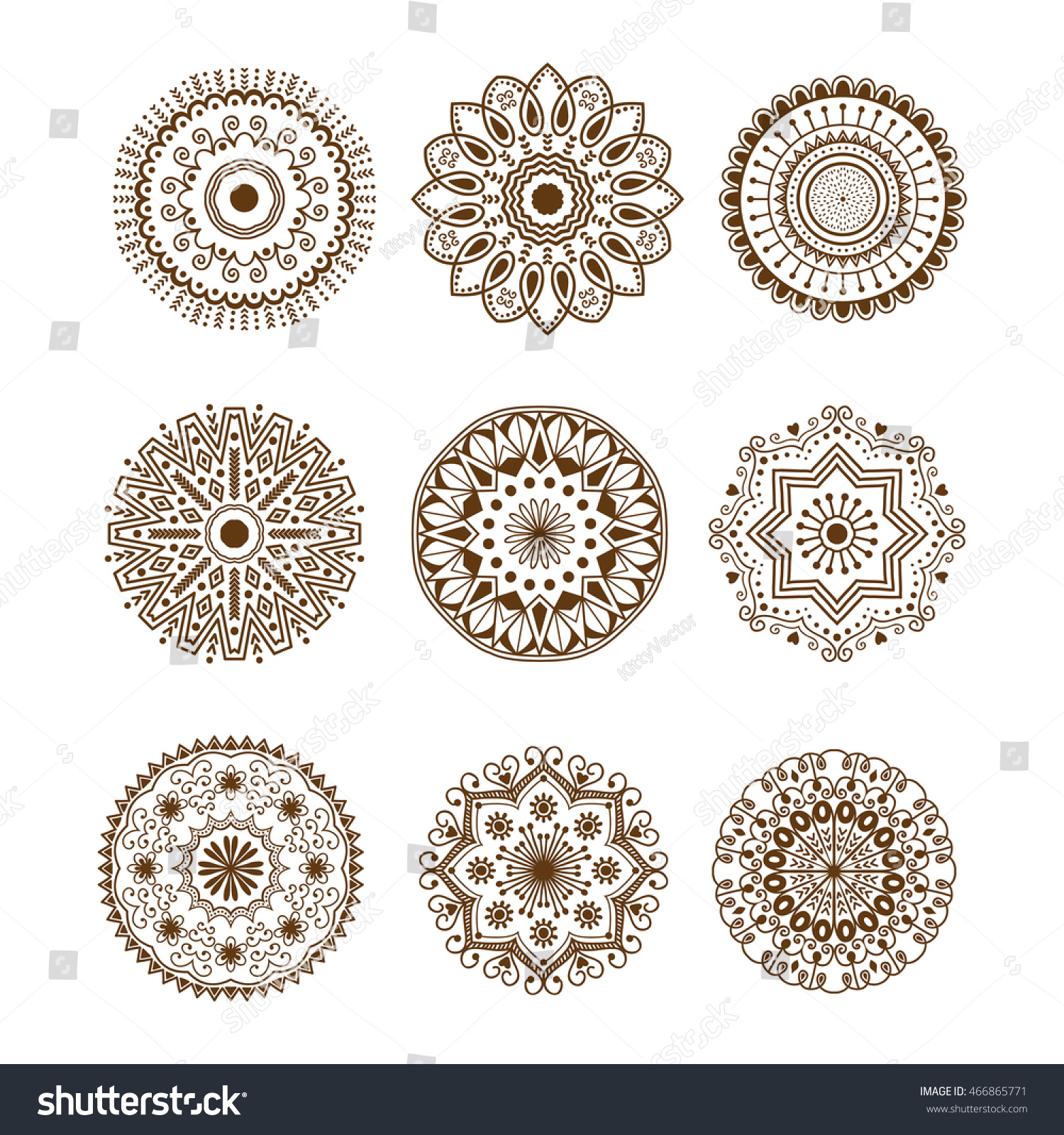 Coloring pages of mehndi hand pattern - Hand Drawn Henna Abstract Mandala Pattern Flowers And Paisley Doodle Coloring Page