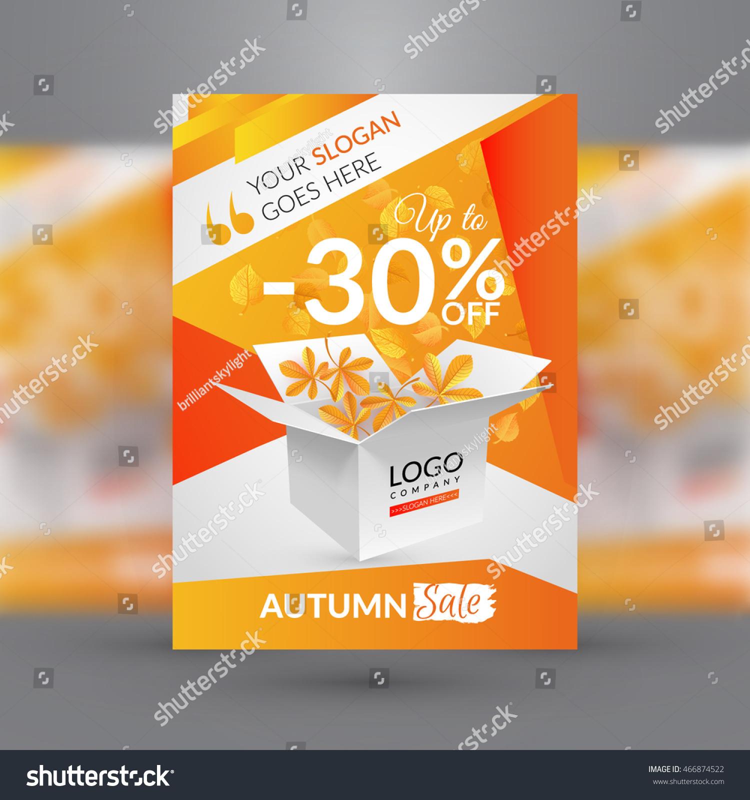Autumn Sale Flyer Template Vector Illustration Vector – Sales Flyer Template