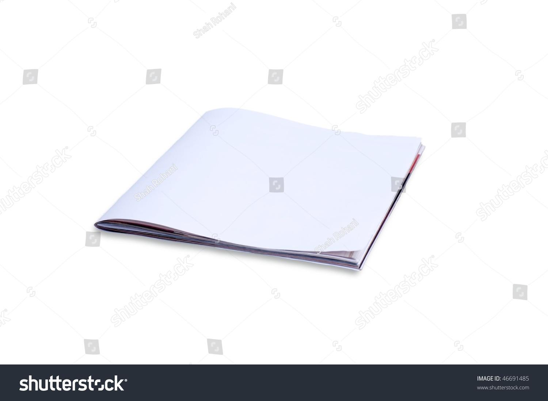 frontpagemagazine - blank front page magazine isolated on white background stock photo