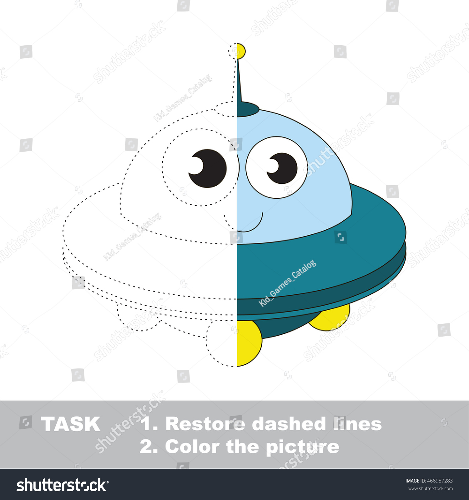 Toy Ufo Vector Be Traced Restore Stock Vector Royalty Free