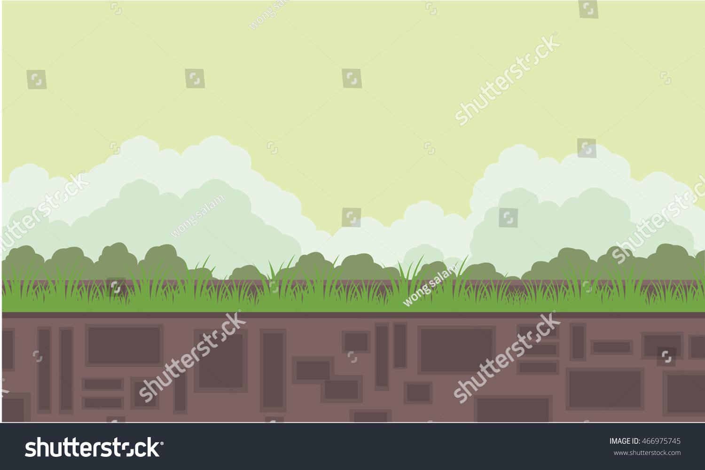 flat backgrounds game scenery cartoon vvector stock vector 466975745