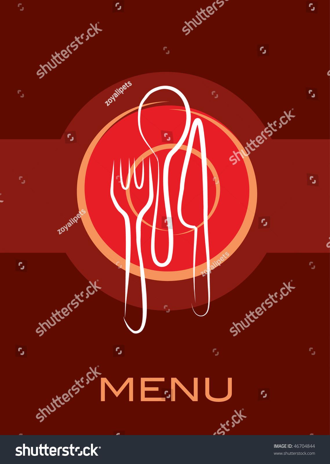 Restaurant menu design stock vector illustration
