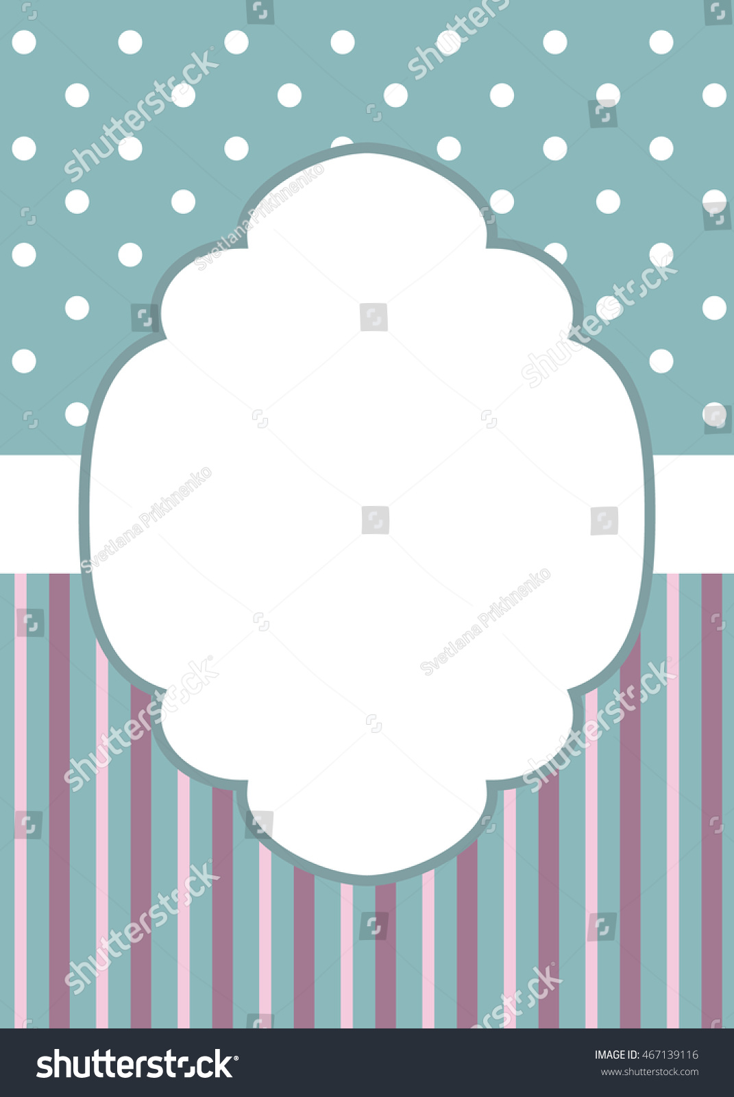 greeting card template stripes polka dotのイラスト素材 467139116
