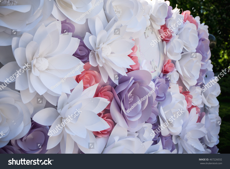 Wedding Wedding Day Paper Flowers Wedding Stock Photo Edit Now