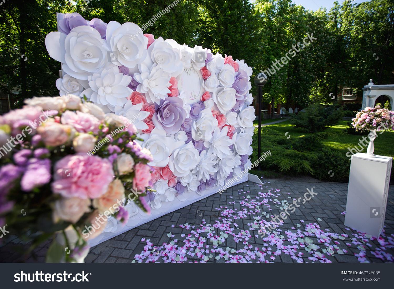 Paper Flowers Wedding Decor Luxury Wedding Stock Photo Edit Now