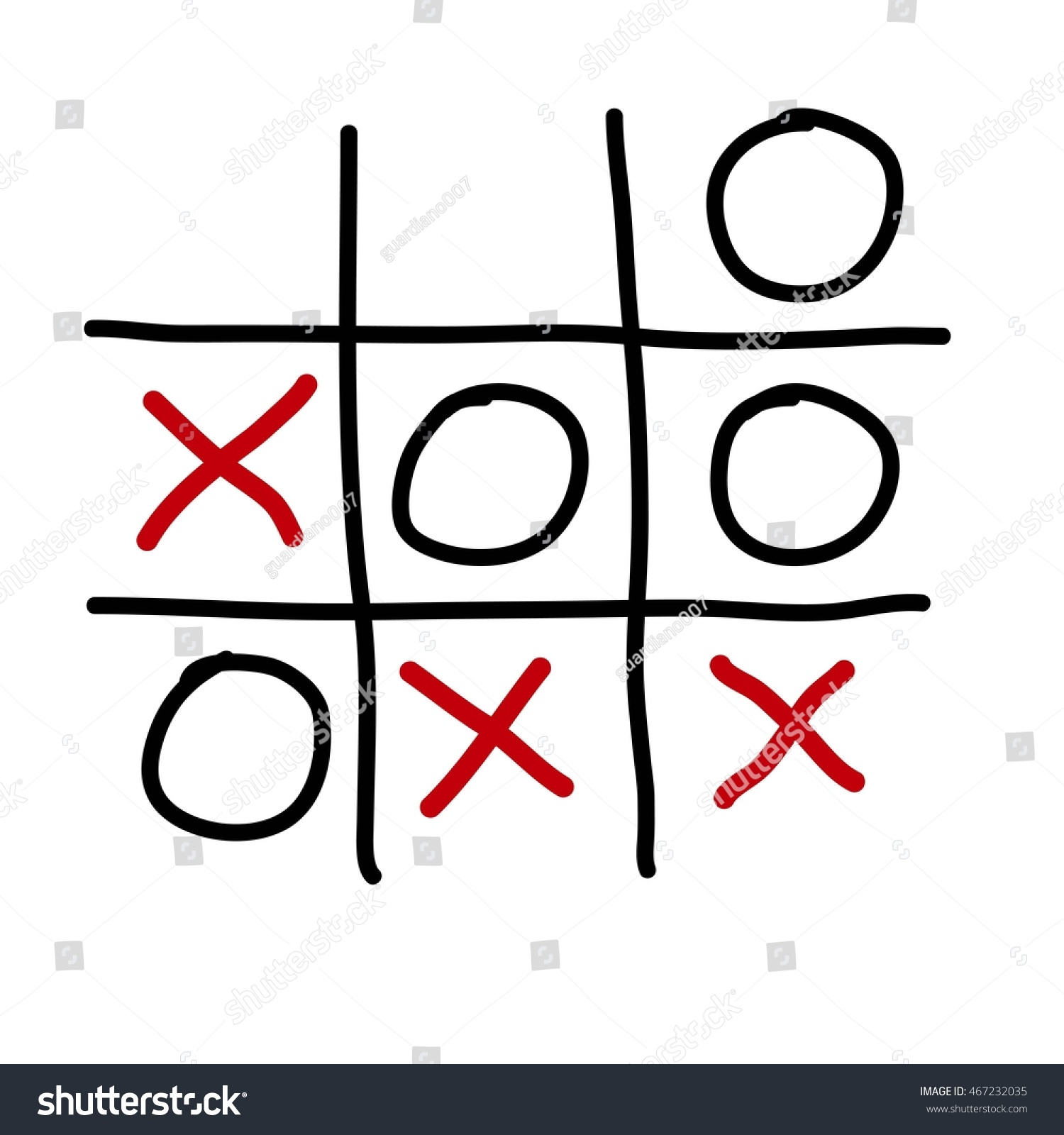 Tic Tac Toe Xo Game On Stock Illustration 467232035 - Shutterstock