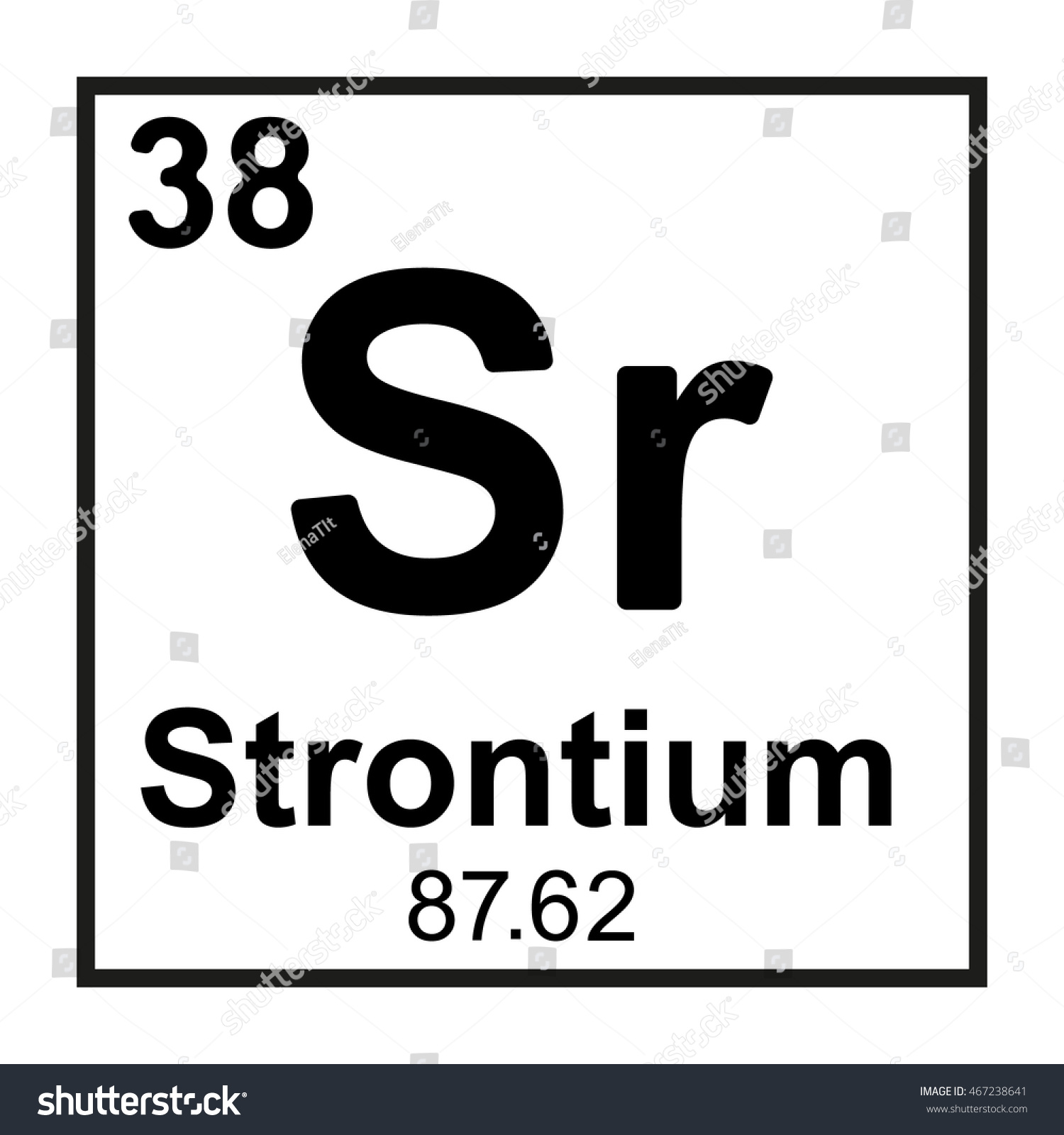 Periodic Table Element Strontium Stock Vector Royalty Free