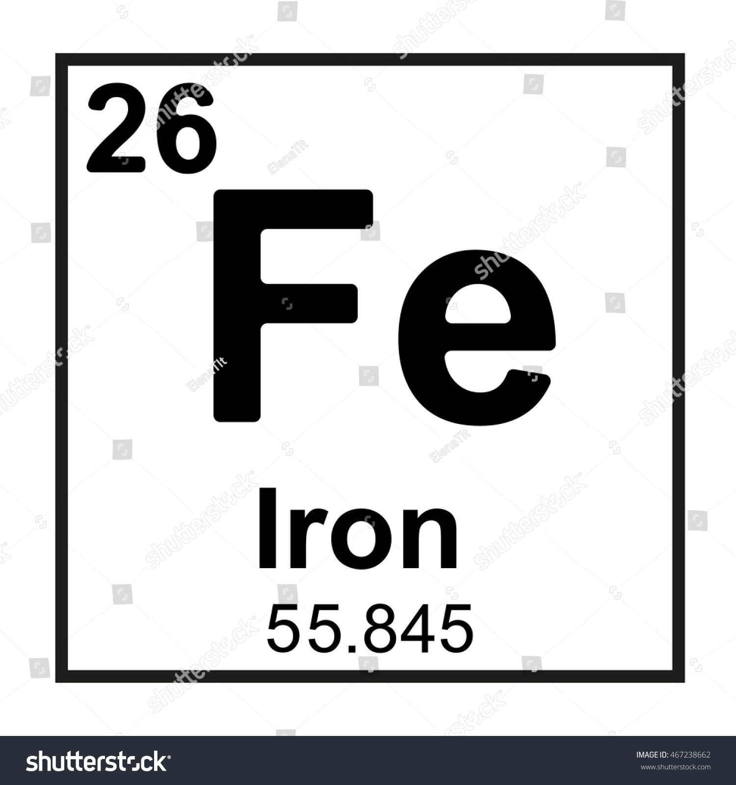 Periodic table element iron stock vector 467238662 shutterstock periodic table element iron gamestrikefo Gallery